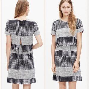 Madewell Two-Piece Silk Dress in Hashtag Stripe